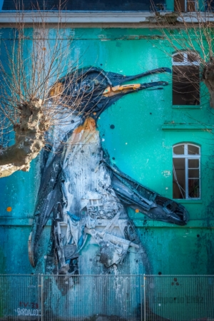 emporioefikz:  Mural by Artur Bordalo in Bordeaux,...