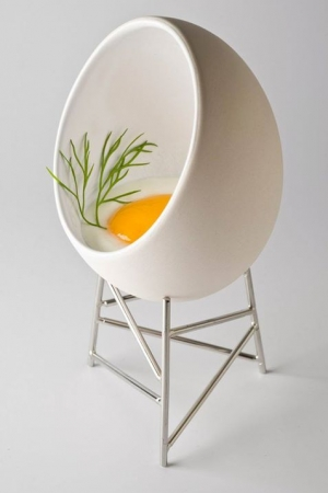 inspirationfeed:  Egg cup, by Christian Ghion, Alessi....