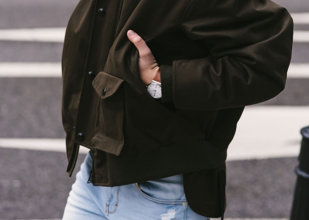 MARNI JACKET X SAINT LAURENT BOOTS/BLOUSE X SKAGEN WATCH