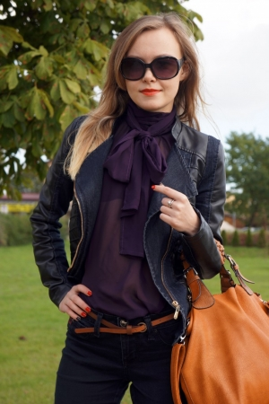 Purple & Black Outfit